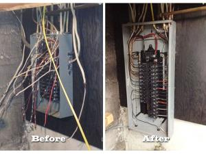 We can take your electrical panel mess and turn it into a thing of beauty!