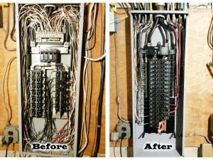 These before and after pictures of this 200 Amp panel speak for themselves!
